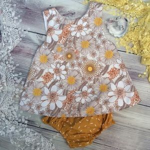 Other - Boutique Baby Girls 2pc Sun Suit